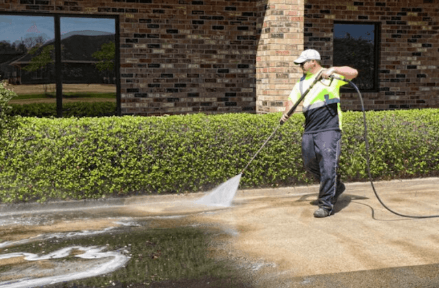commercial concrete cleaning in o'fallon